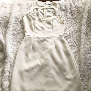 Tobi white cutout sexy party midi casual dress